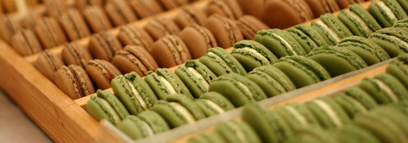 Hand made flavoured butter cream macaroons