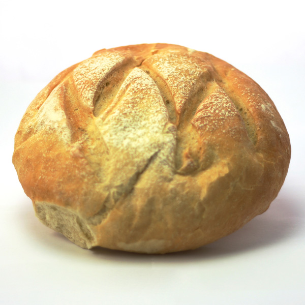 White Artisan Bread Loaf